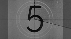 Picture Start Film Reel Leader Countdown Vintage Film Movie 10191 Stock Footage