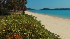 Takeoff on Bang Tao beach. Phuket. Thailand. Aerial view. Stock Footage