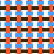 Very simple flat seamless geometry pattern. It includes white, brown, blue, r Stock Illustration