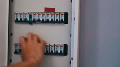 Switching Electric Breaker Box Stock Footage
