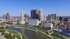 Scioto River & Columbus, Ohio Stock Footage