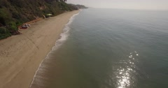 Aerial footage over Malibu Beach, California Stock Footage