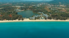 Aerial view on Bang Tao beach. Phuket. Thailand. Stock Footage