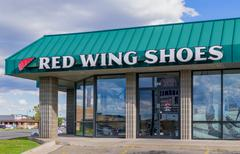 Red Wing Shoes Store Stock Photos