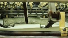 Machines in printing workshop Stock Footage