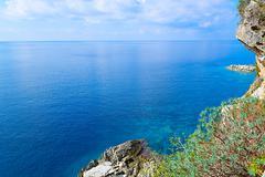 The sea and the coastline, Budva, Montenegro, Adriatic Sea, Mediterranean Sea Stock Photos