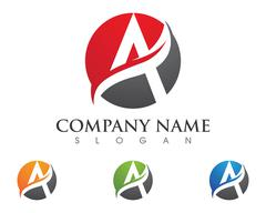 A Letter Logo Template Stock Illustration