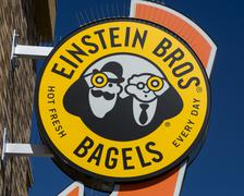 Einstein Bros. Bagel Sign and Logo Stock Photos