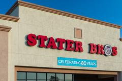 Stater Bros Grocery Store Exterior and Logo Stock Photos