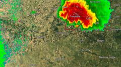2007 Greensburg KS Tornado Radar (With Warn Boces) Stock Footage