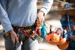 Close up of mountaineering equipment Stock Photos