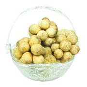 Longkong fruits isolated on white Stock Photos