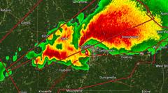 2011 Tuscaloosa AL Tornado Radar (with Warn Boxes) Stock Footage