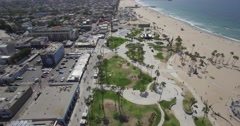 Aerial over Venice Beach, California Stock Footage