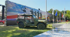Exhibit of the Texas Vietnam Memorial at the State Fair of Texas Stock Footage