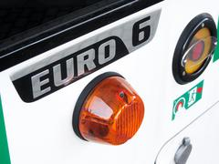 Euro 6 label on bus for urban transport Stock Photos
