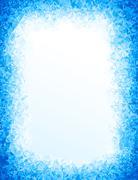Vector blue ice background Stock Illustration