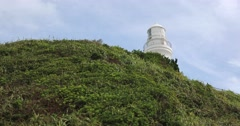 Inubosaki Lighthouse and green grass, Chiba Prefecture, Japan Stock Footage