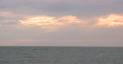 Sea and sky before sunset at Byobugaura cliff, Chiba Prefecture, Japan Stock Footage