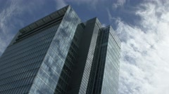 View of business building and clouds in the sky, Tokyo, Japan Stock Footage