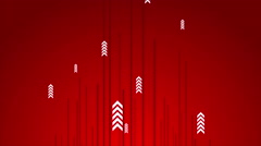 Hi-tech red abstract video animation with arrows Stock Footage