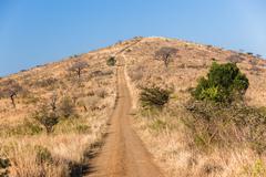 Hill Dirt Road Climb Stock Photos
