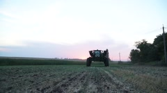 Tractor makes its installation Stock Footage