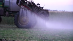 Sprayers work with the earth Stock Footage