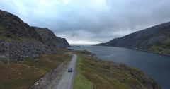 Aerial footage Beautiful Nature Norway. Flying over the lakes and fjords.View Stock Footage