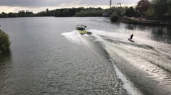 A man water skiing Stock Footage
