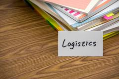 Logistics; The Pile of Business Documents on the Desk Stock Photos