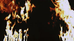 Hot fire flames blast Stock Footage