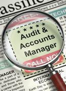 Audit And Accounts Manager Join Our Team. 3D Stock Illustration