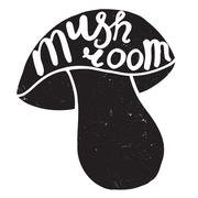 Mushroom graphic drawing Stock Illustration