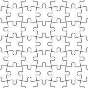 Jigsaw puzzle mosaic seamless background Stock Illustration
