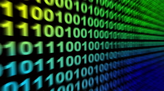 4k,Binary source code,data digital display,future tech background. Stock Footage