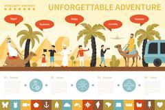 Unforgettable Adventure infographic flat vector illustration. Presentation Stock Illustration