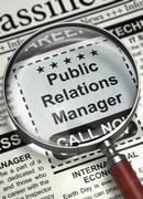 Job Opening Public Relations Manager. 3D Stock Illustration