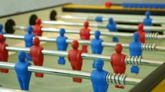 Close up of table football game Stock Footage