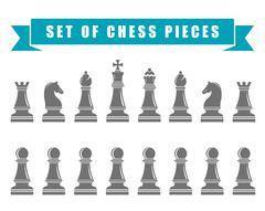 Chess icons. Vector Illustration. Stock Illustration