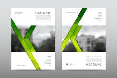 Brochure layout template flyer design vector, Magazine booklet cover abstract Stock Illustration