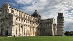 Panoramic view of Miracles Square – Pisa, Italy Stock Footage