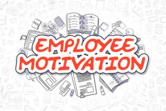 Employee Motivation - Cartoon Red Text. Business Concept Stock Illustration