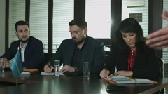 Business woman. Top managers of a large company or a bank Stock Footage