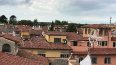 View of Square of Miracles from Pisa rooftop Stock Footage