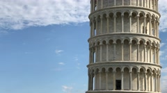 Tower, Cathedral and Baptistery of Pisa, Tuscany – Italy Stock Footage
