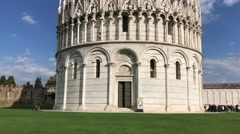 Square of Miracles, Pisa. View of Baptistery Stock Footage