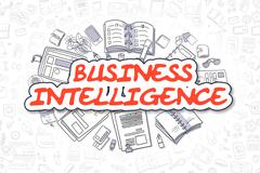 Business Intelligence - Cartoon Red Word. Business Concept Stock Illustration