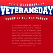Veterans Day. Honoring all who served. Usa flag vector Stock Illustration