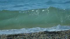 Sea Waves Breaking Against Shore Stock Footage